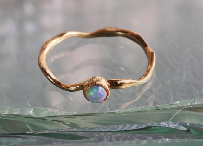 Kali ring met edelsteen 1