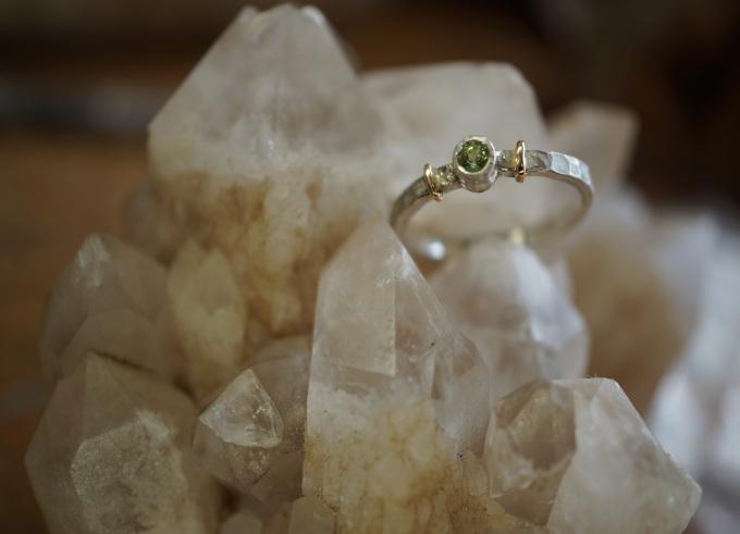 Ringen zilver en goud 10